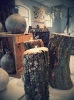 Waxinehouder oud eikenhout